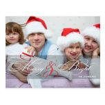 Joyeuses et lumineuses cartes postales de photo de
