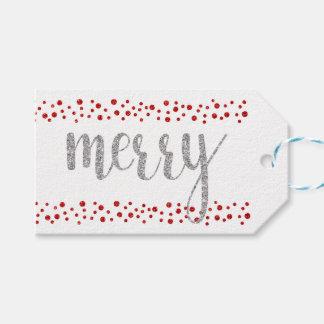 Joyeuses étiquettes de cadeau de parties
