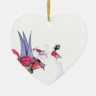 Joyeuses Fêtes 1 par Fernandes élégant Ornement Cœur En Céramique