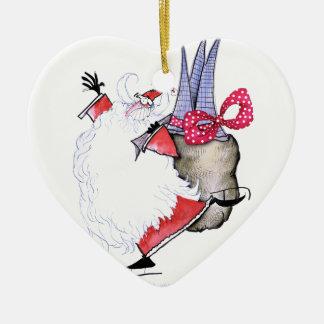 Joyeuses Fêtes de ShardArt par Fernandes élégant Ornement Cœur En Céramique