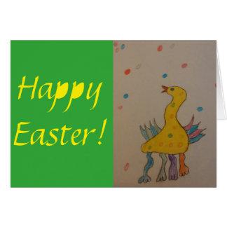 Joyeuses Pâques badinent la carte de voeux de Carte De Vœux