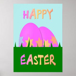 Joyeuses Pâques badinent l'affiche