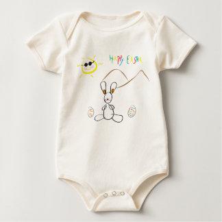 Joyeuses Pâques badinent le dessin Bodies Pour Bébé