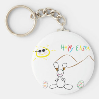 Joyeuses Pâques badinent le dessin Porte-clés