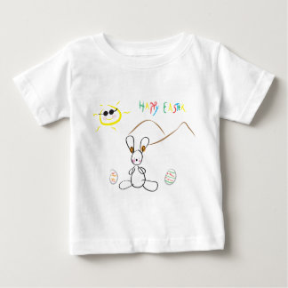 Joyeuses Pâques badinent le dessin T-shirt