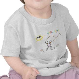 Joyeuses Pâques badinent le dessin T-shirts