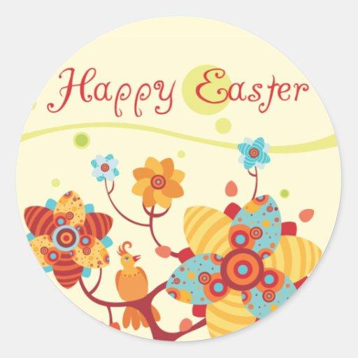 Joyeuses Pâques badinent le poignet Adhésifs Ronds