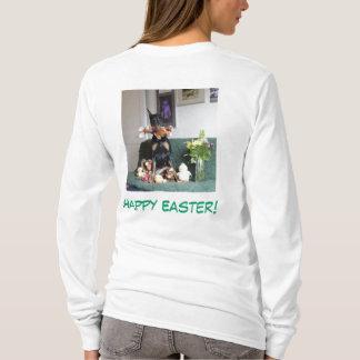 Joyeuses Pâques du receveur de lapin T-shirt