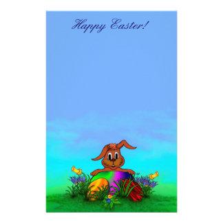 Joyeuses Pâques ! Lapin de Pâques Motifs Pour Papier À Lettre