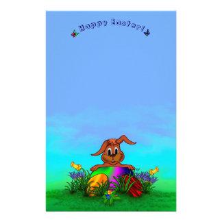 Joyeuses Pâques ! Lapin de Pâques Papier À Lettre Customisable