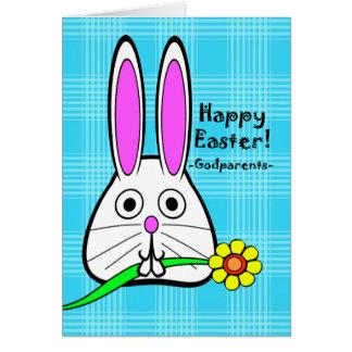 Joyeuses Pâques pour des parrains, fleur mignonne Carte De Vœux