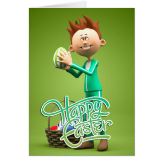 Joyeuses Pâques Toon Cartes De Vœux