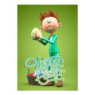 Joyeuses Pâques Toon Faire-part Personnalisables