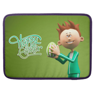 Joyeuses Pâques Toon Poche Pour Macbook