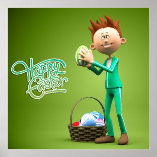 Joyeuses Pâques Toon Posters