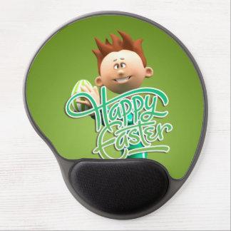 Joyeuses Pâques Toon Tapis De Souris Avec Gel