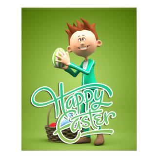 Joyeuses Pâques Toon Tract Personnalisé