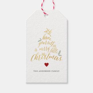 Joyeuses petites étiquettes de cadeau de Noël