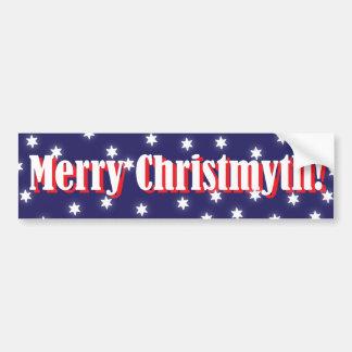 Joyeux adhésif pour pare-chocs de Christmyth Autocollant De Voiture