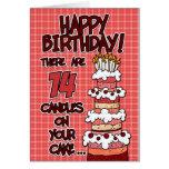 Joyeux anniversaire - 14 années carte de vœux