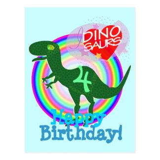 Joyeux anniversaire 4 ans de carte postale de