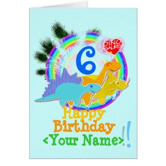 Joyeux anniversaire 6 ans, votre carte nommée de