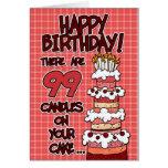 Joyeux anniversaire - 99 années cartes
