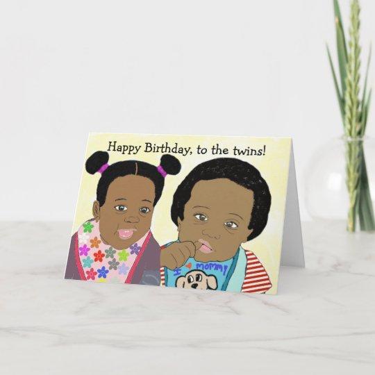 Joyeux Anniversaire A La Carte De Jumeaux Zazzle Fr