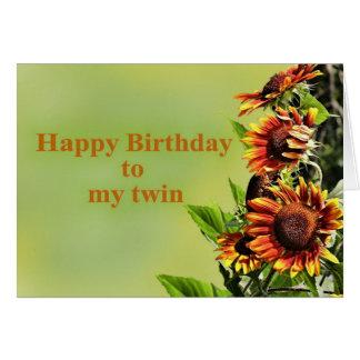 Joyeux anniversaire à mon jumeau, avec des carte de vœux
