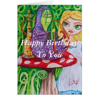 Joyeux anniversaire Alice dans la chenille du pays Cartes