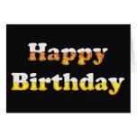 Joyeux anniversaire avec la carte de mousse de biè
