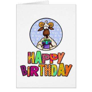 Joyeux anniversaire - Bélier Carte De Vœux