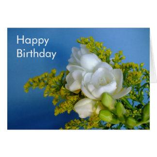 Joyeux anniversaire - carte de freesia