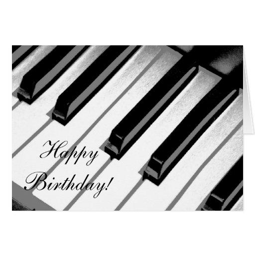 Joyeux anniversaire ! Carte de musique de piano