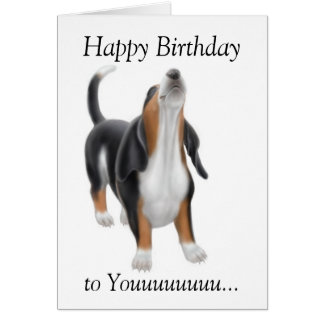 joyeux anniversaire chien de chasse