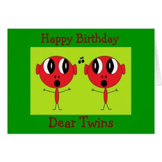 , Joyeux anniversaire, cher Twins Cartes