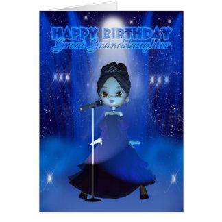 Joyeux anniversaire d'arrière-petite-fille cartes