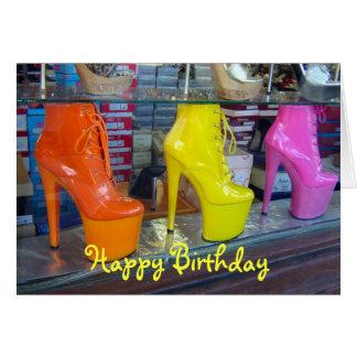 Joyeux anniversaire de chaussures carte de vœux