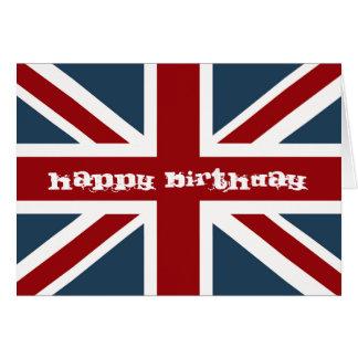 Joyeux anniversaire de drapeau classique d'Union Cartes