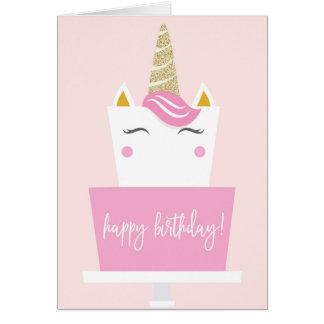 Joyeux anniversaire de licorne cartes