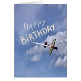 Joyeux anniversaire de publicité aérienne dans les cartes de vœux