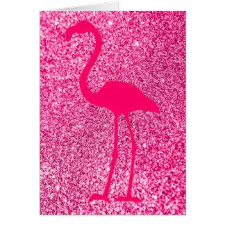 Joyeux anniversaire de scintillement rose de carte de vœux