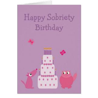 Joyeux anniversaire de sobriété carte de vœux