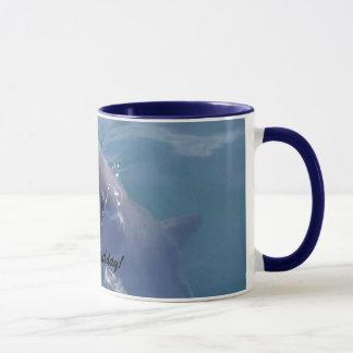 Joyeux anniversaire de sourire de dauphin ! tasse