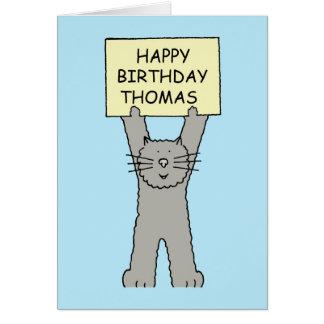 Joyeux anniversaire de Thomas Cartes