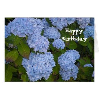 Joyeux anniversaire d'hortensia carte de vœux