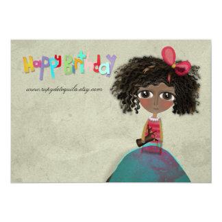Joyeux anniversaire d'invitation de papier carton d'invitation  12,7 cm x 17,78 cm