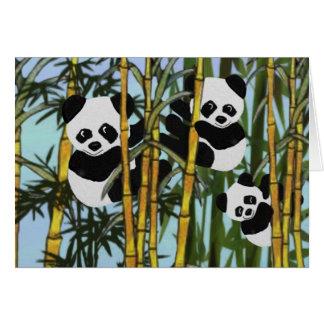 Joyeux anniversaire d'ours panda cartes de vœux