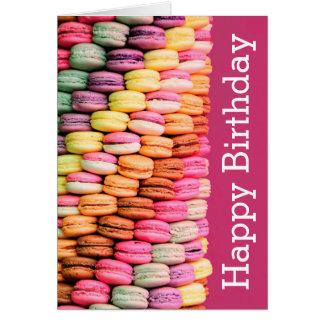 Joyeux anniversaire doux de Macarons Carte De Vœux
