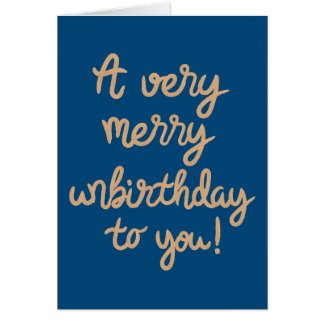 Joyeux anniversaire d'Unbirthday Cartes